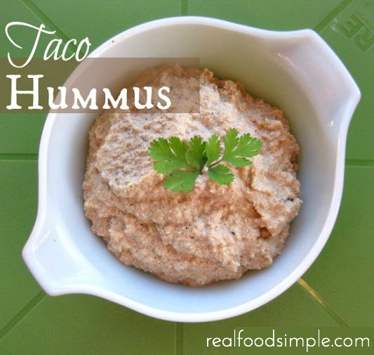 simple homemade taco hummus | realfoodsimple.com