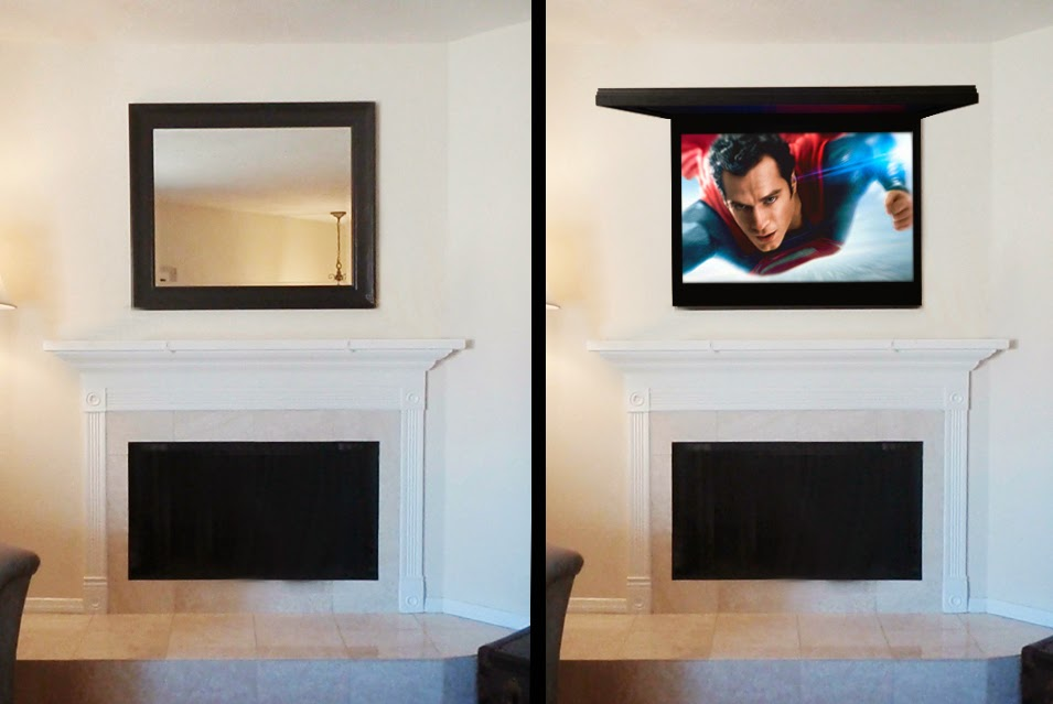 Hide My Tv With Art Or Framed Mirror