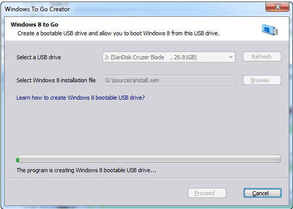 how to make a boot up disk for windows 8