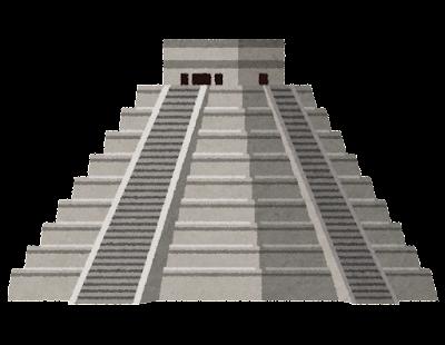 チチェン・イッツァのピラミッドのイラスト