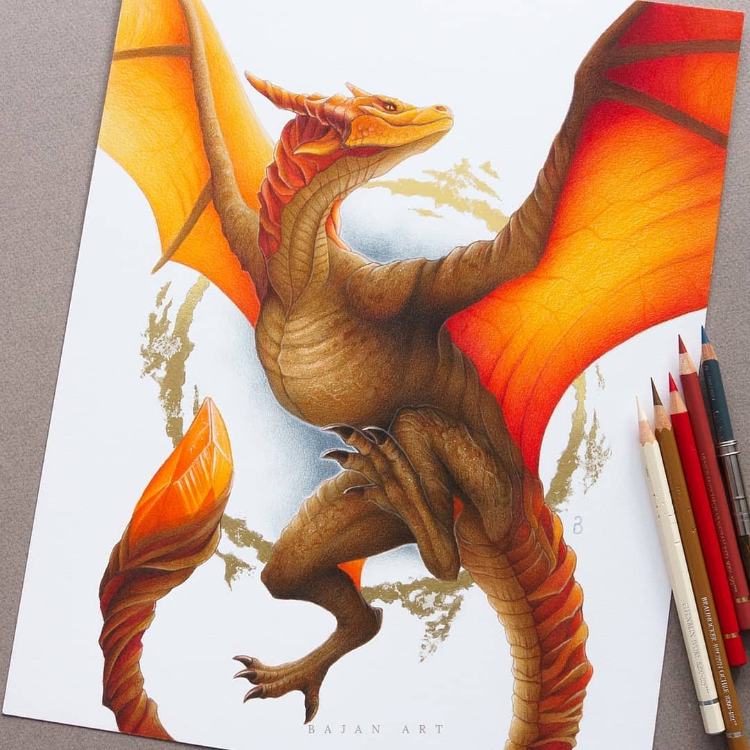 07-Dragon-Łukasz-Andrzejczak-Fantasy-Art-and-Animals-www-designstack-co
