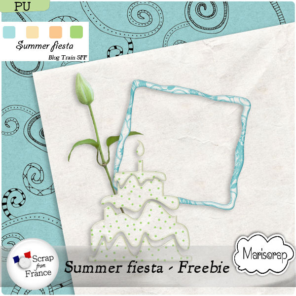 "Blog Train FREEBIE ""summer Fiesta"" + kit by Mariscrap"