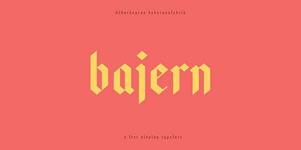 Download 22 Font Terbaru Gratis Edisi Mei 2016 - Bajern Free Typeface