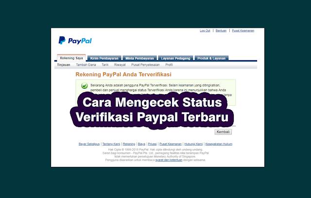 Cara Mengecek Status Verifikasi Paypal Terbaru