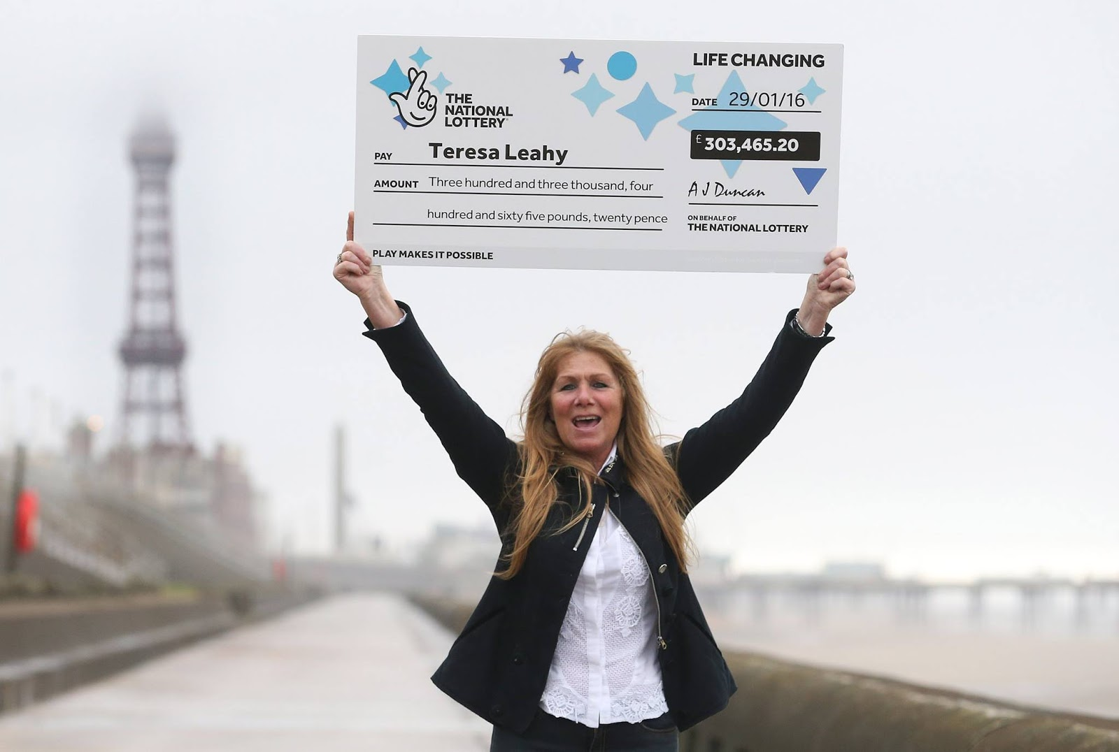 Teresa Leahy from Blackpool has won EuroMillions