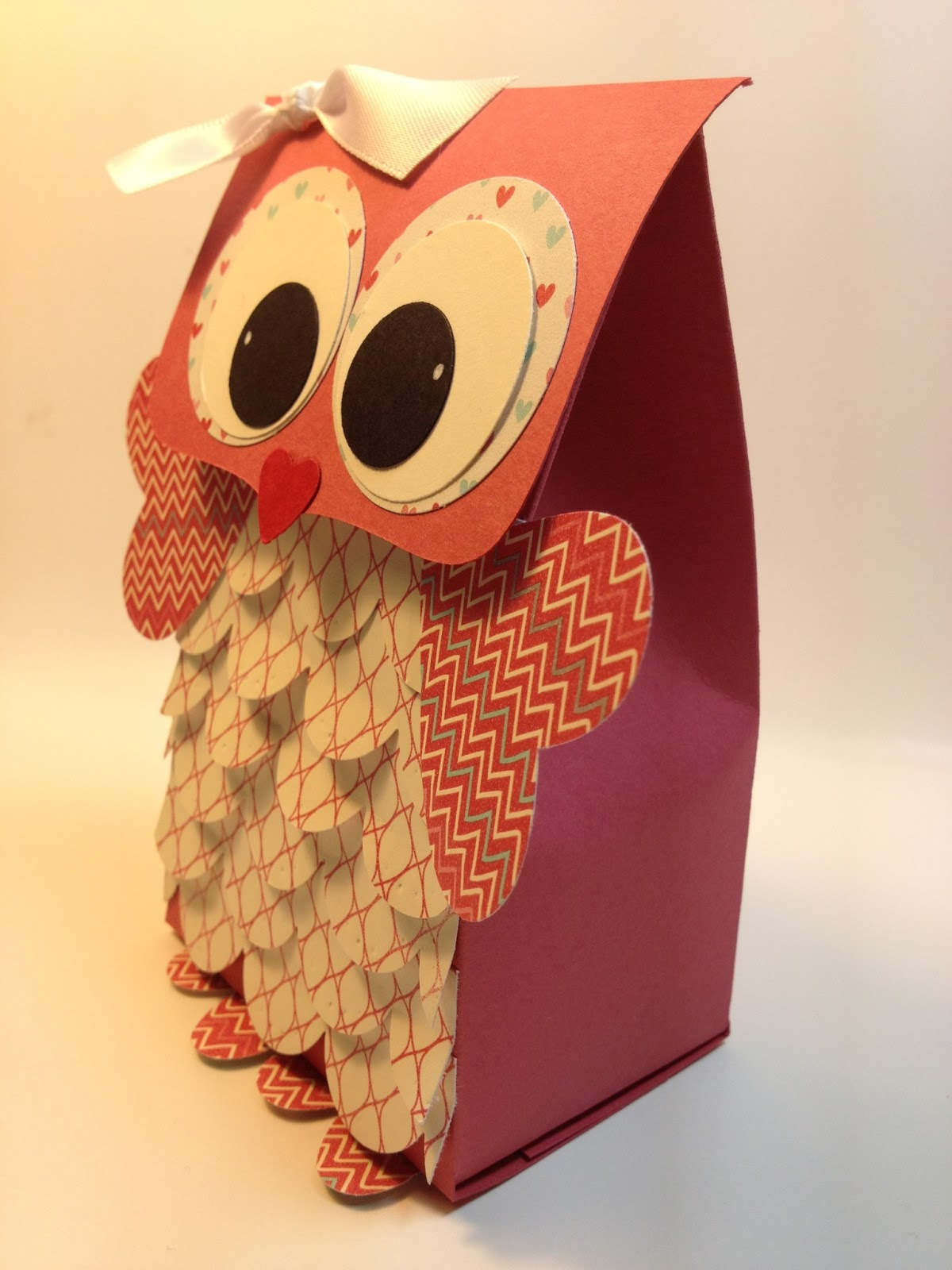 The Paper Hen Owl Valentine T Bag