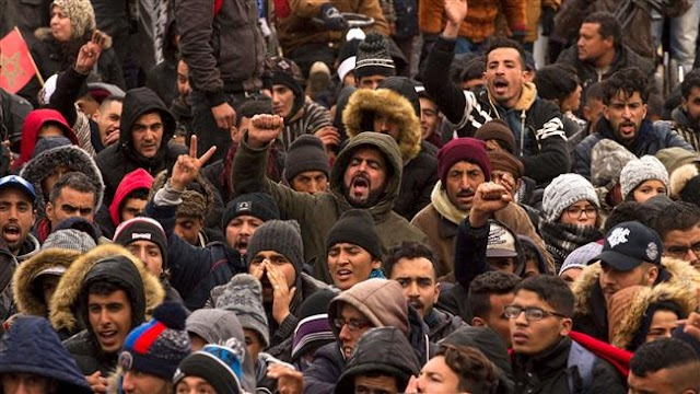 Thousands of people in northern Morocco demand better living conditions