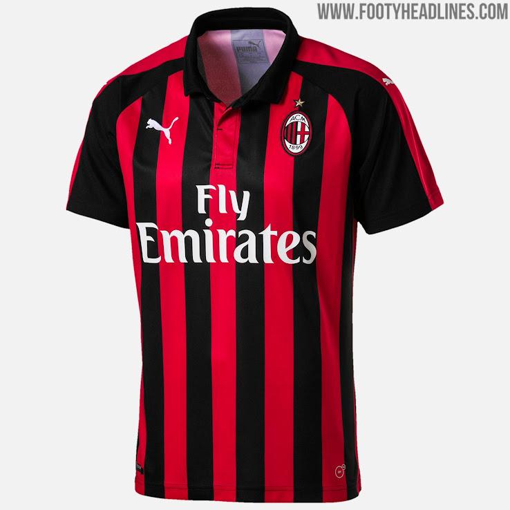 24e7c3d7b71 Puma Milan 18-19 Home Kit Released - Footy Headlines
