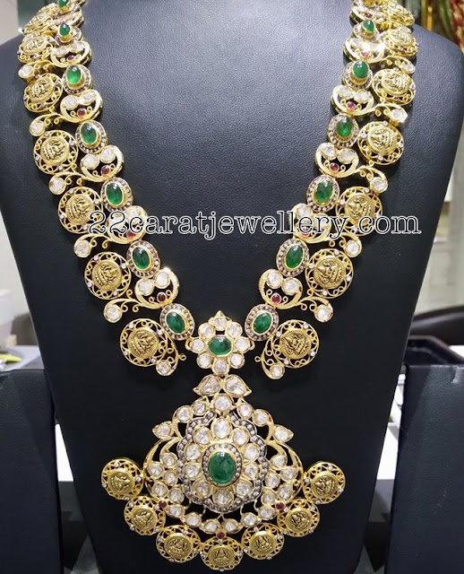 Lakshmi Long Chain with Emeralds