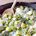 LOW CARB CHEESY BRUSSELS SPROUTS GRATIN