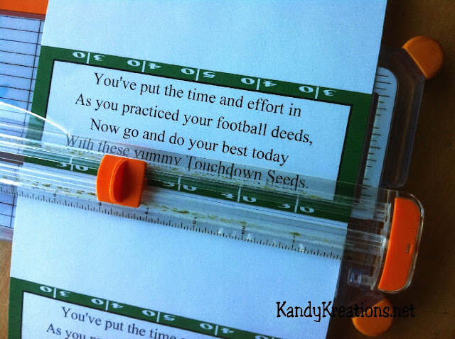 Touchdown Seeds Football Party Favors Printable