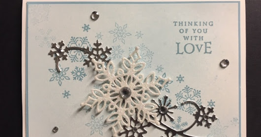 Snowfall, Beautiful Blizzard, Thinking of You Card, Stampin' Up! 2018 Holiday Catalog