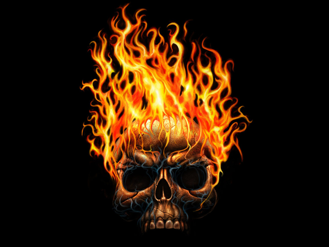cool wallpaper fire skull - photo #13