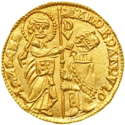 Ducat of Andrea Dandolo c. 1354 - obverse