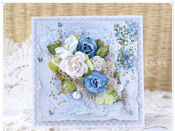 With blue roses / Z niebieskimi różami