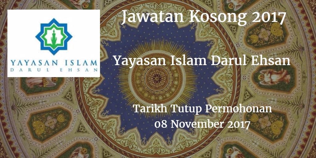 Jawatan Kosong Yayasan Islam Darul Ehsan 08 November 2017