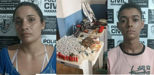 PM prende traficantes e apreende drogas em Carolina-MA