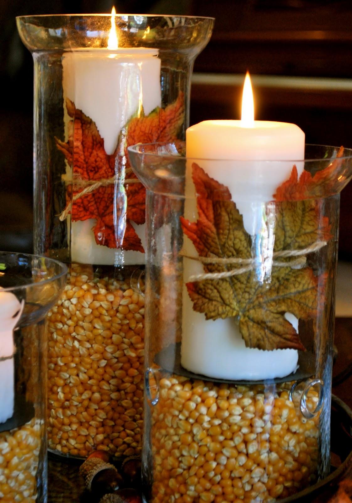ThanksgivingFall DecorationsHurricane Vases  Amanda Jane Brown
