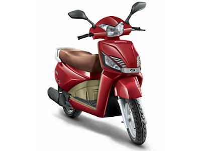 Mahindra Gusto 110cc matt red HD image