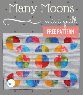 free many moons mini quilt pattern
