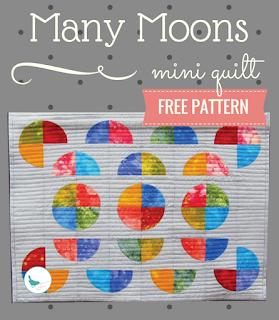 free many moons mini quilt pattern