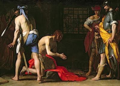 Imagem da decapitação de São João Batista, pintura, #1