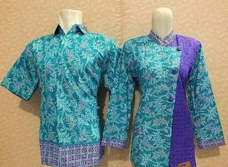 Baju batik atasan untuk pasangan remaja
