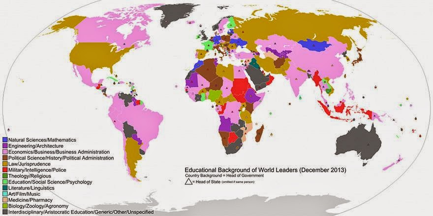 Educational Backgrounds of World Leaders - Maps You Never Would Have Seen in School