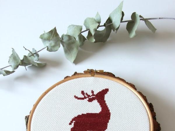 un ciervo para decorar en navidad