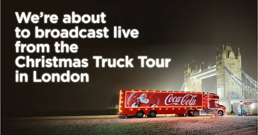 Coca-Cola Christmas Truck on Facebook Live! (#HolidaysAreComing)