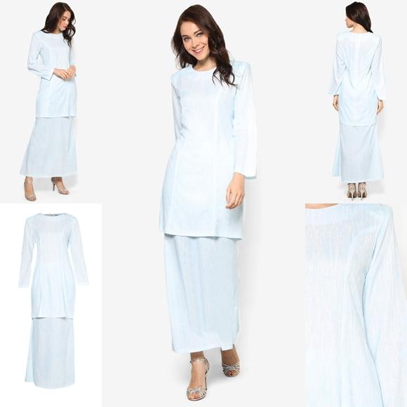 Fesyen Trend Terkini November 2016 Baju Kurung Moden Yazmein Blue By Butik Sireh Pinang