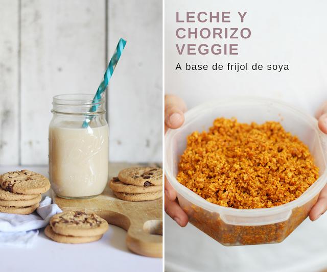 chorizo vegano receta vegetariano leche soya
