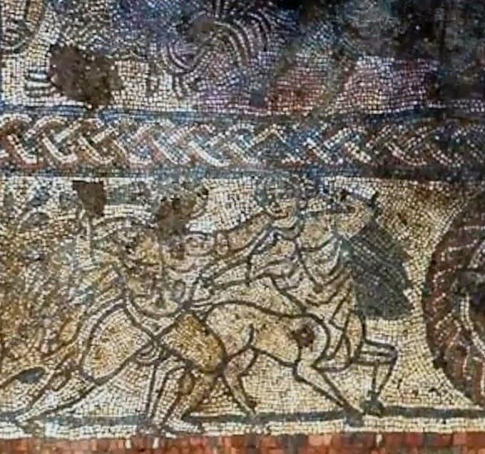 Άθικτο μωσαϊκό  με ελληνικούς μύθους,  ξανά στο φως στην Βρετανία