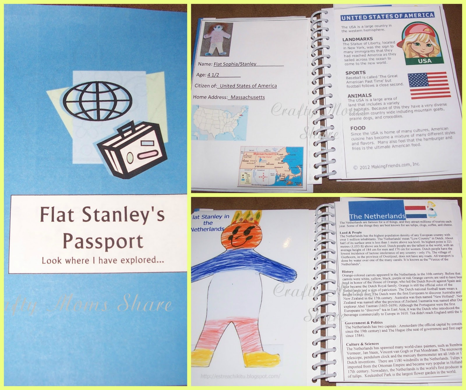 Then I Added Pictures For Each Country Of The Things We Have Done With Them  In Hers And Of Flat Stanley From The Country.