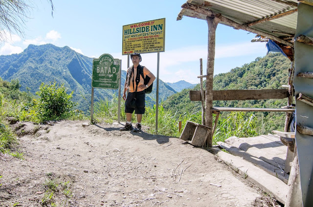 8th Wonder of the World Batad Rice Terraces Saddle Way Marker Posterity Selfie