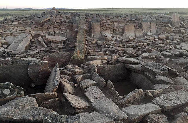 Chamber in Bronze Age 'pyramid' opened in Kazakhstan