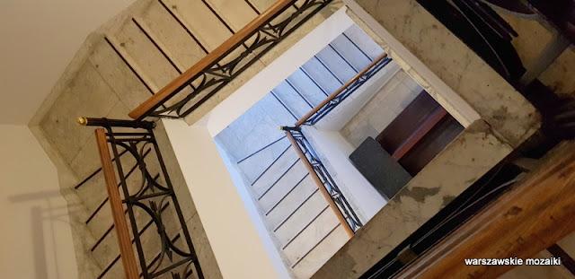 Warszawa Warsaw Nowogrodzka Państwowy Bank Rolny monumentalizm Marian Lalewicz architektura architecture klatka schodowa schody balustrada