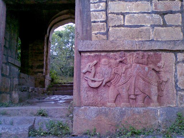 Ramayana story carved in stone Medak Fort Telangana