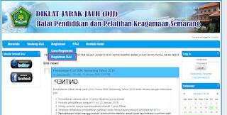 Pada tahun ini telah kembali dibuka registrasi Diklat Jarak Jauh  Cara Daftar Diklat Jarak Jauh (DJJ) BDK Semarang