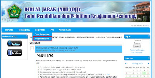 Cara Daftar Diklat Jarak Jauh (Djj) Bdk Semarang