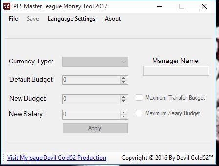 Cara Cheat Money Master League PES 2017