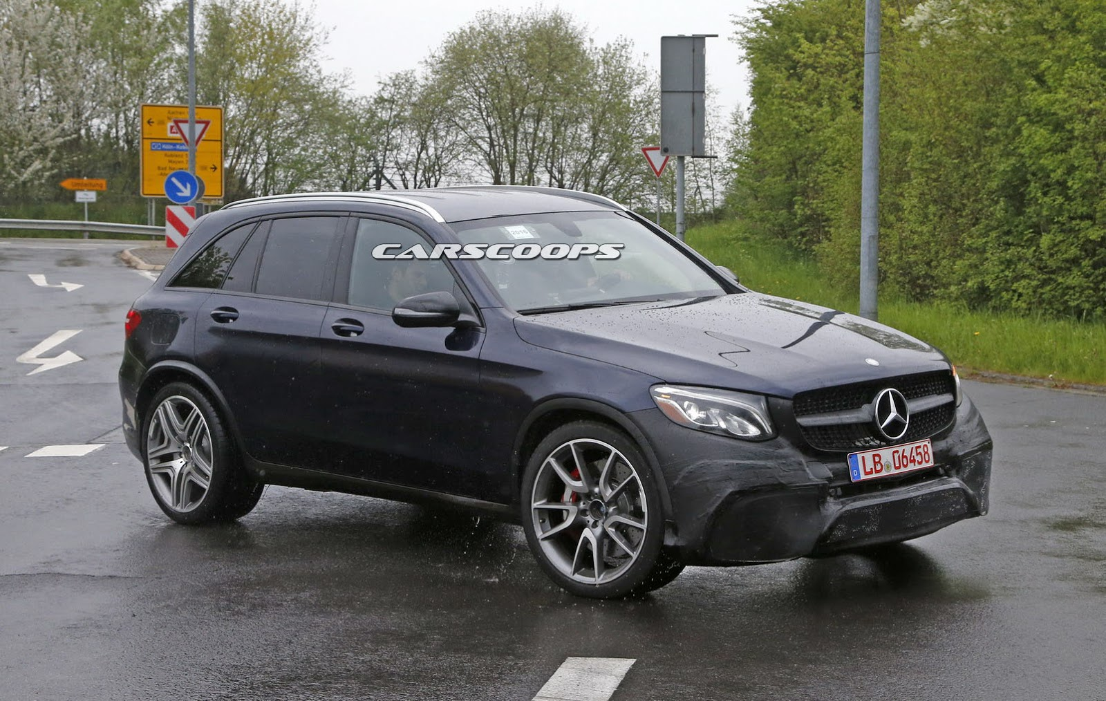 Mercedes Amg S New V8 Powered Glc 63 Spied Carscoops
