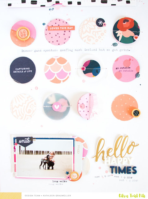 Happy Times by ScatteredConfetti. // #scrapbooking #citrustwistkits #cratepaper