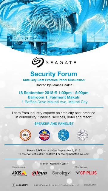Tech Motor Sport Blog: Seagate Security Forum - Safe City