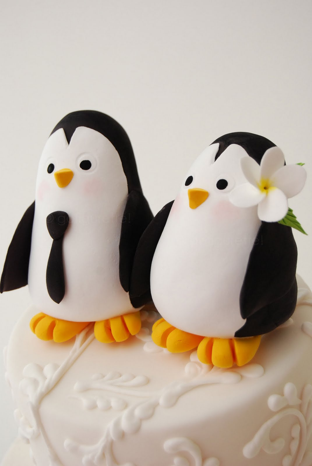 penguin cake toppers wedding petals amp paper boutique enter for a chance to win 300 6441