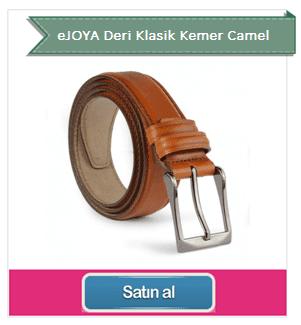 eJOYA Deri Klasik Kemer Camel