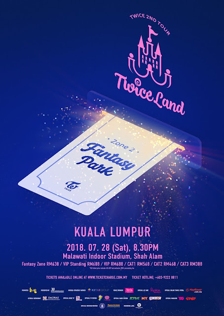 Twice Live in KL 2018 - TWICELAND ZONE 2 - Fanstasy Park in Kuala Lumpur 28th July (Saturday), 8.30pm at Stadium Malawati, Shah Alam