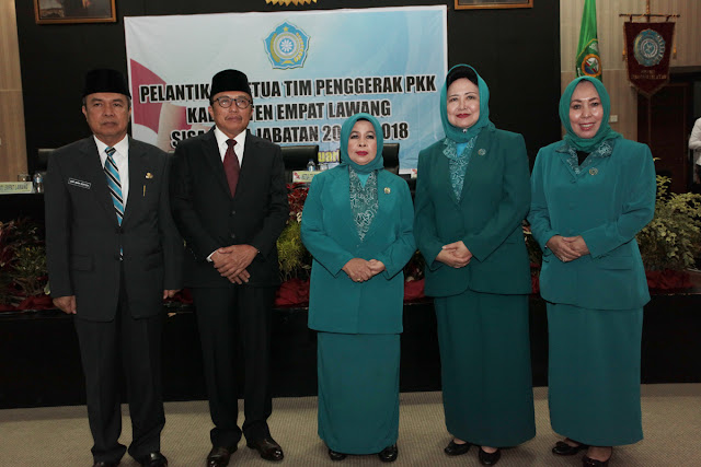 Eliza Alex Lantik Ketua TP TKK Kabupaten Empat Lawang