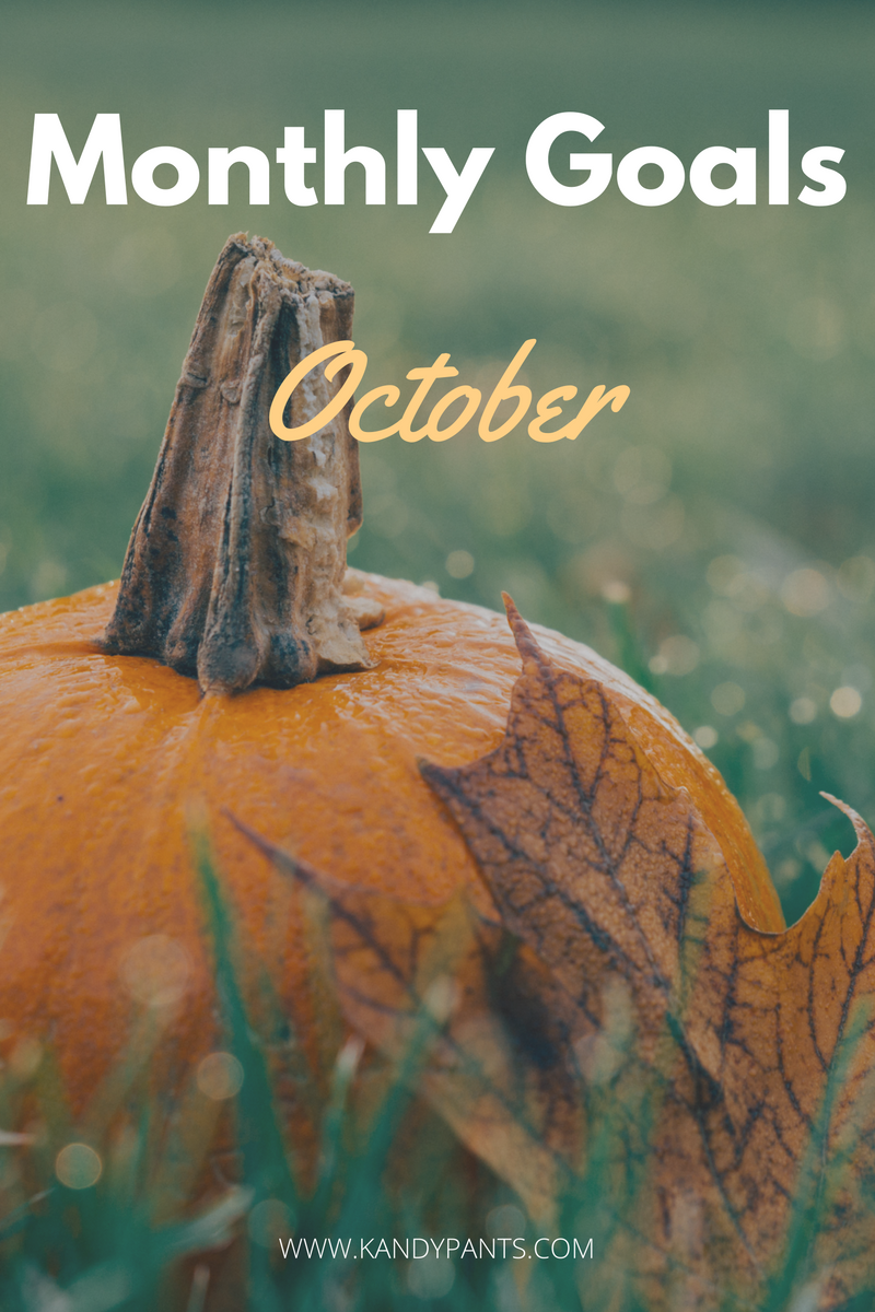 Every month I set goals for myself that I aim to achieve. Sometimes I accomplish them and sometimes I'm not so lucky. See my goals for October!