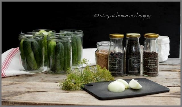 Gewürzgurken - stay at home and enjoy